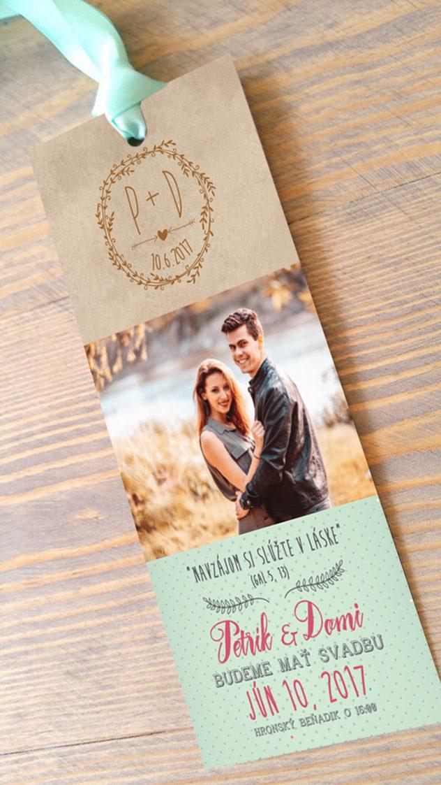 Už pol roka svoji – svadobné oznámenie